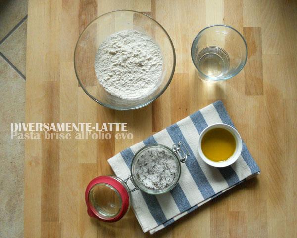 Ingredienti per la pasta brisè all'olio evo