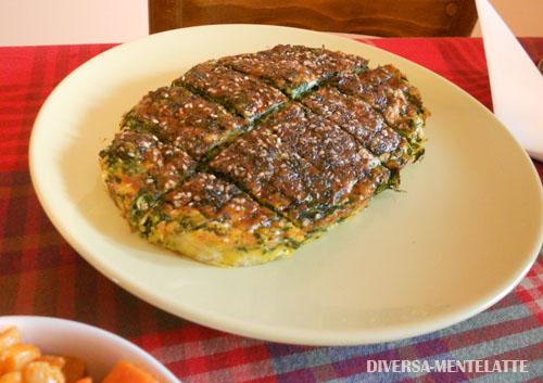 Frittata spinaci e zenzero