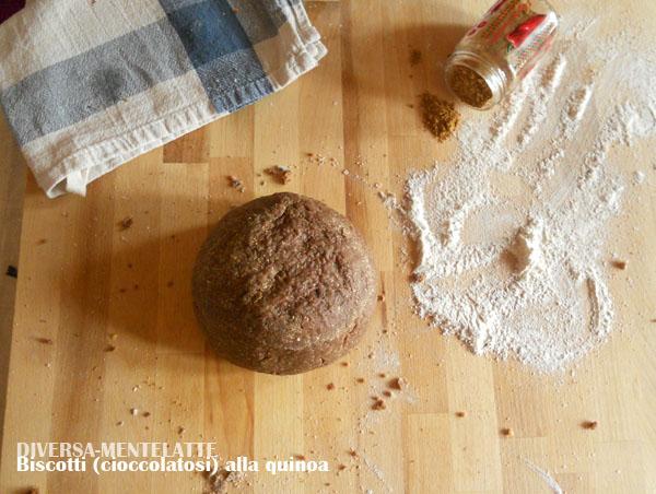 Impasto biscotti quinoa cioccolato