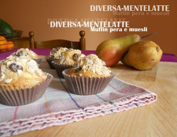 Muffin alla pera con mues