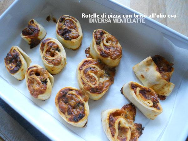 Rotelle di pizza con pasta brisè all'olio evo