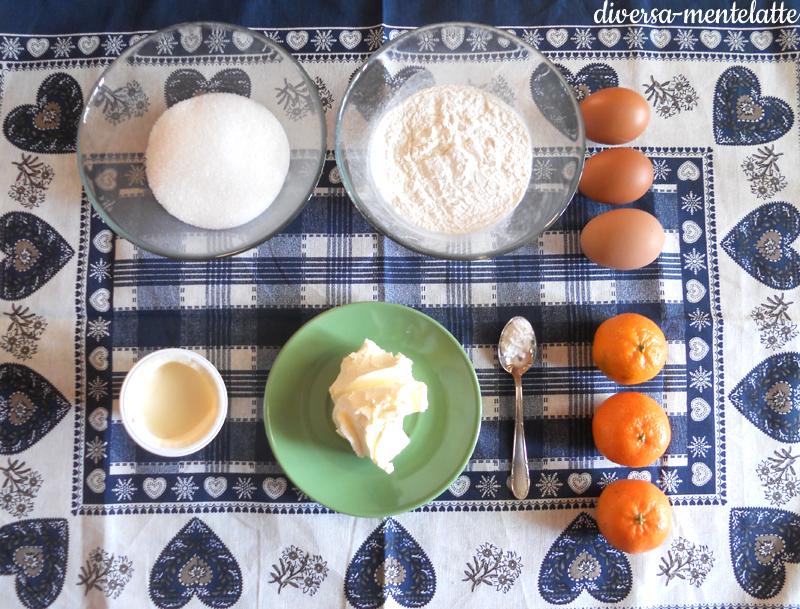Ingredienti torta alle clementine