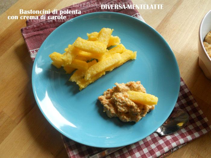 Bastoncini di polenta con crema di carote