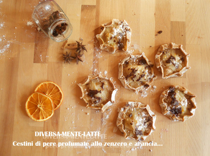 Cestini di pere allo zenzero e arancia