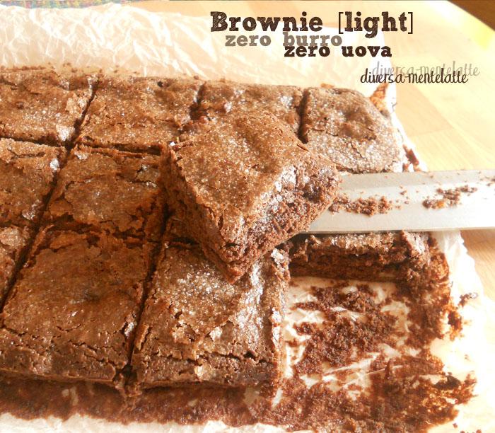 Brownie light zero burro zero uova