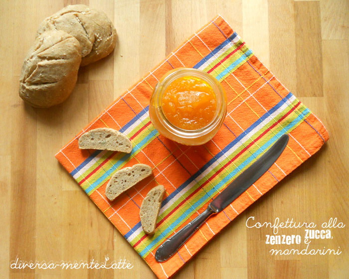 Confettura alla zucca zenzero mandarini