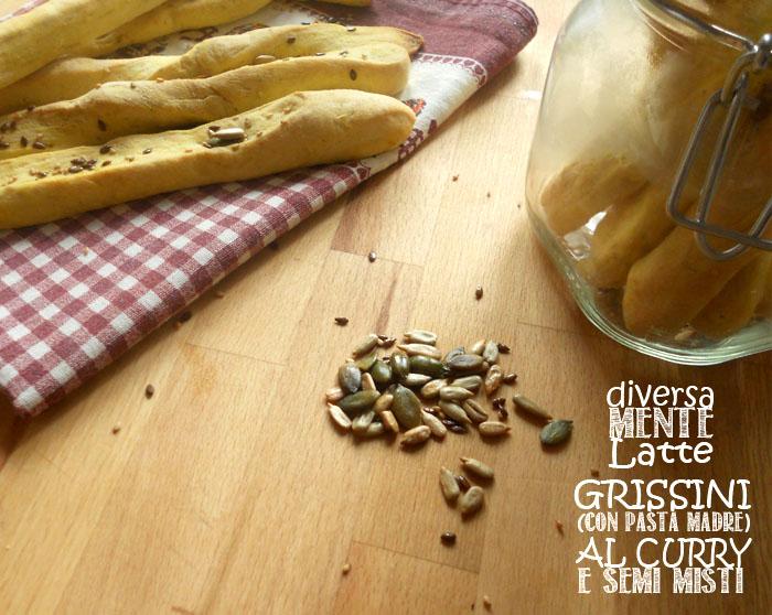 Grissini con pasta madre al curry e semi vari