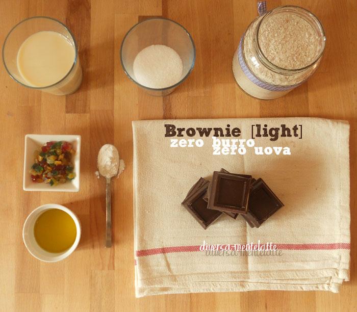 Ingredienti brownie zero burro zero uova