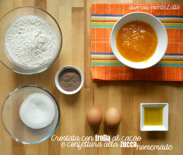 Ingredienti crostata frolla al cacao