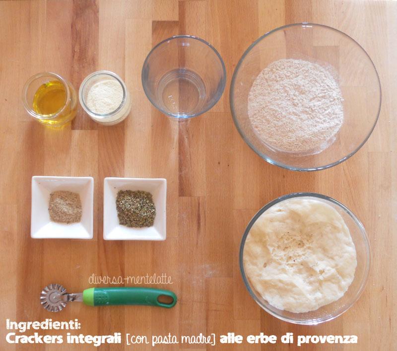 Ingredienti crackers integrali alle erbe di provenza