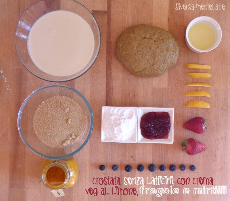Ingredienti crostata senza latticini