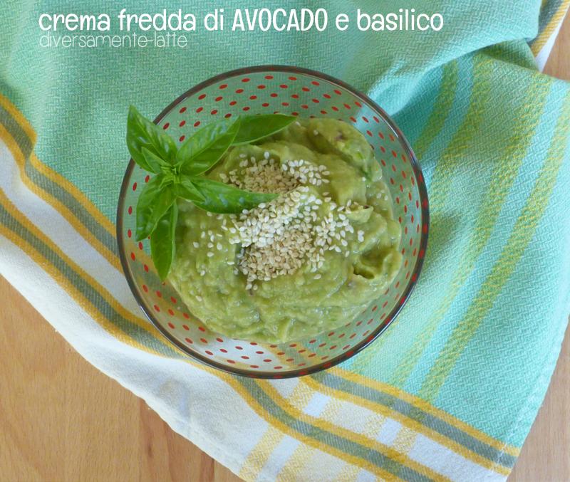 Crema fredda avocado, basilico