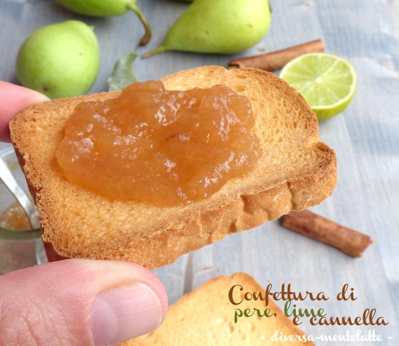 Confettura con pere lime cannella