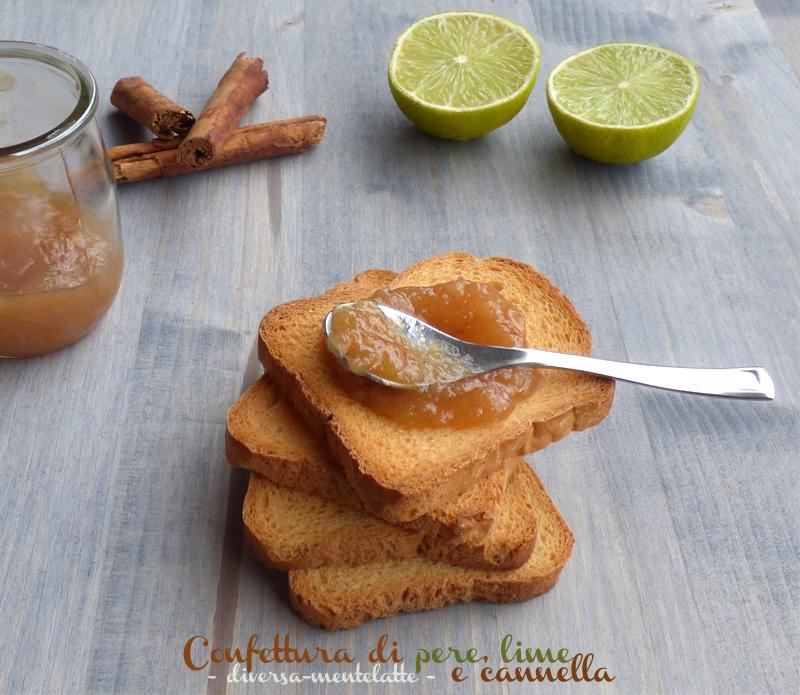 Confettura pere lime cannella