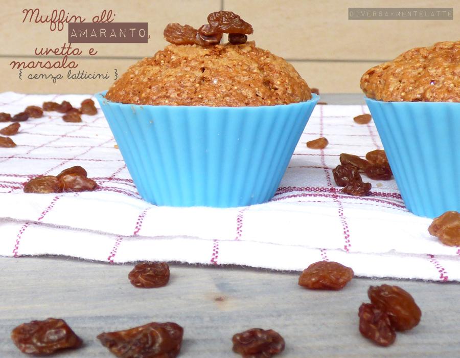 muffin amaranto uvetta marsala senza latticini