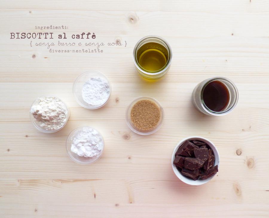 ingredienti biscotti caffè senza burro senza uova