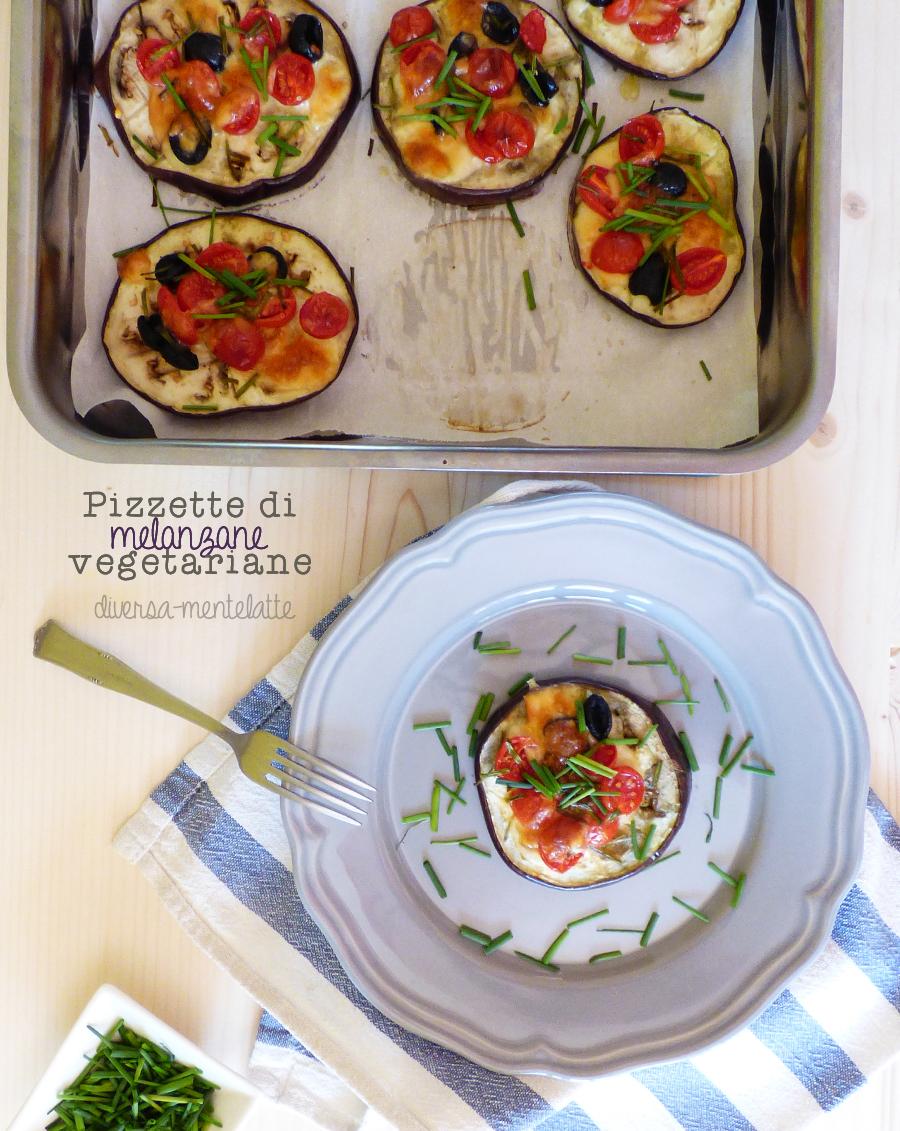 pizzette melanzane vegetariane