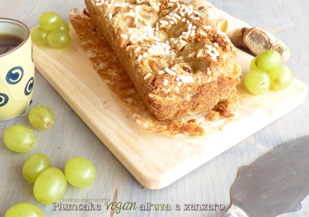 plumcake vegan uva zenzero