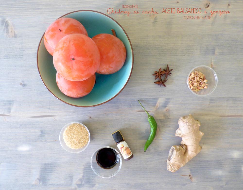 ingredienti chutney cachi aceto balsamico zenzero