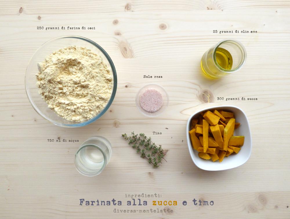 ingredienti farinata zucca e timo