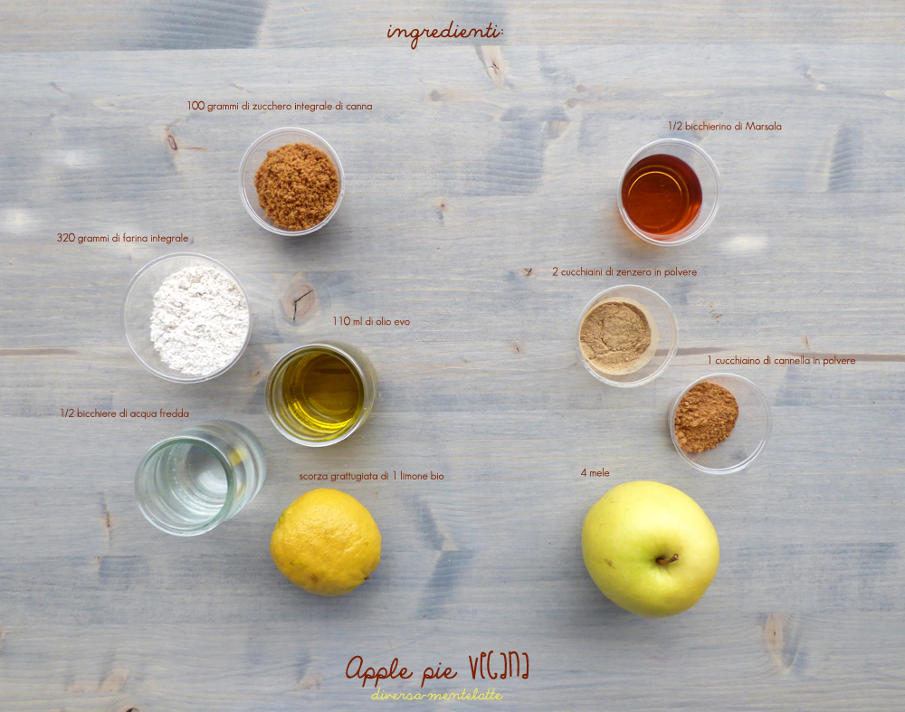ingredienti apple pie vegana