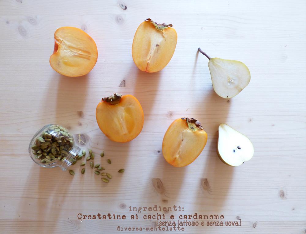 ingredienti crostatine con cachi cardamomo