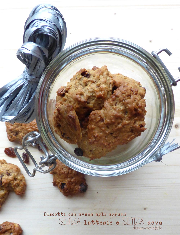 biscotti con avena e agrumi lactose free