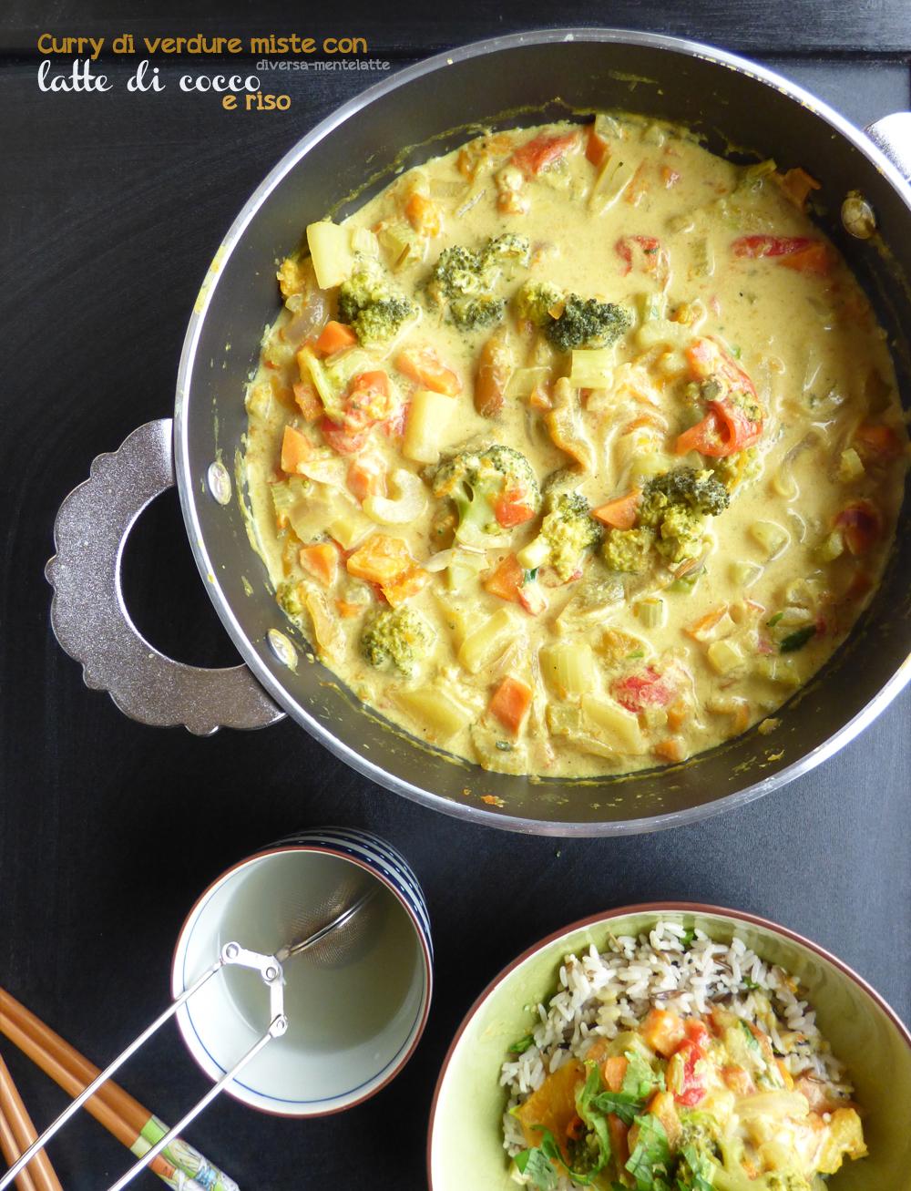 curry indiano di verdure miste