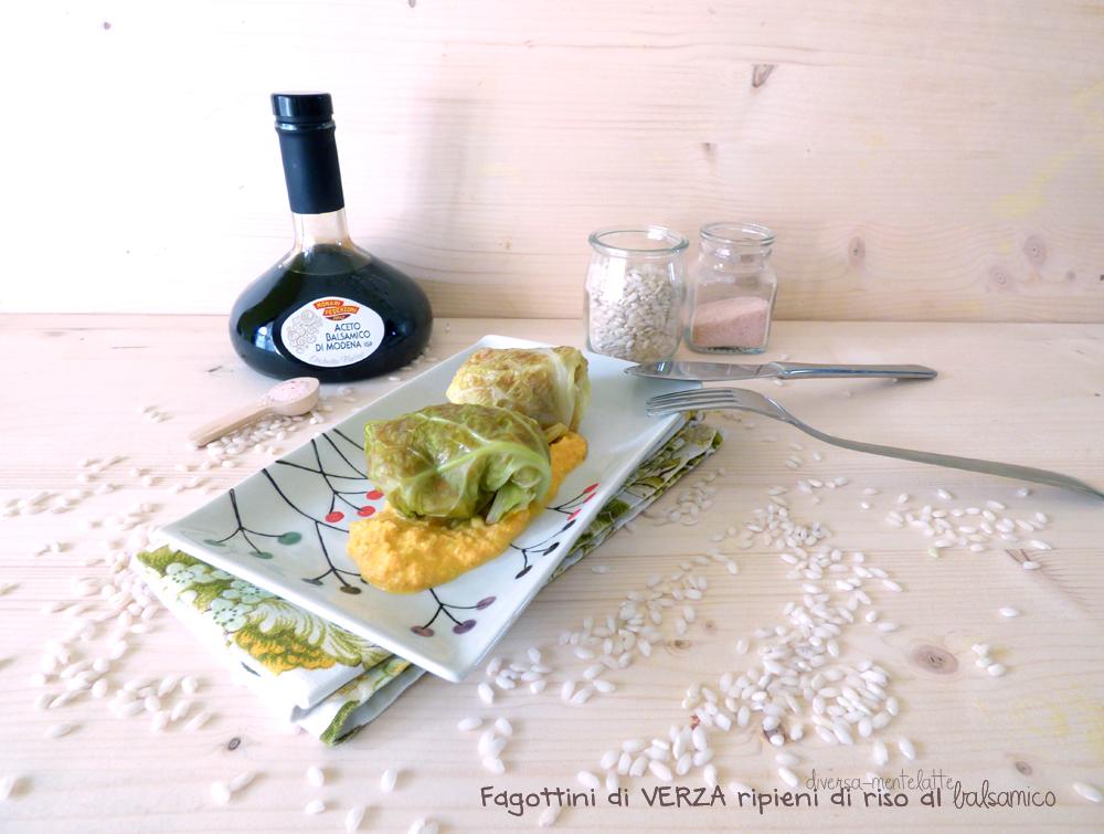 fagottini di verza con riso senza lattosio