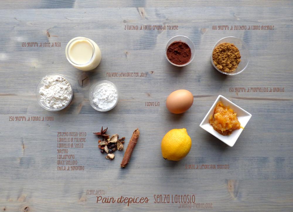 ingredienti pan d'epices senza lattosio