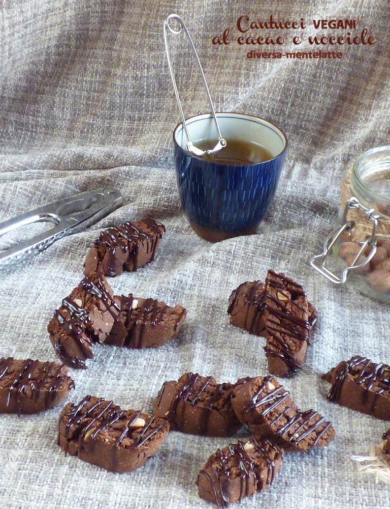 cantucci al cacao e nocciole senza lattosio