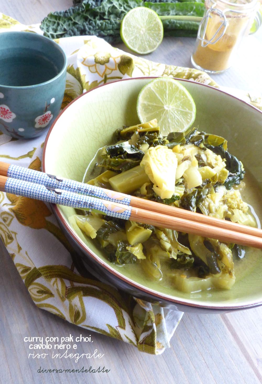 curry con pak choi