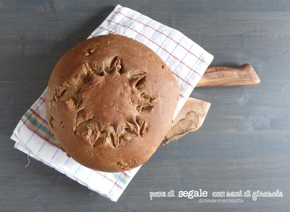 pane di segale integrale ai semi di girasole