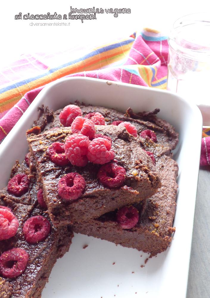 brownies cioccolato e lamponi