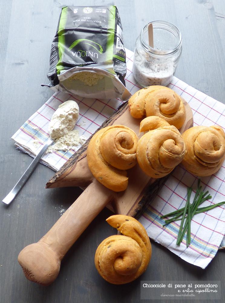 chiocciole di pane al pomodoro