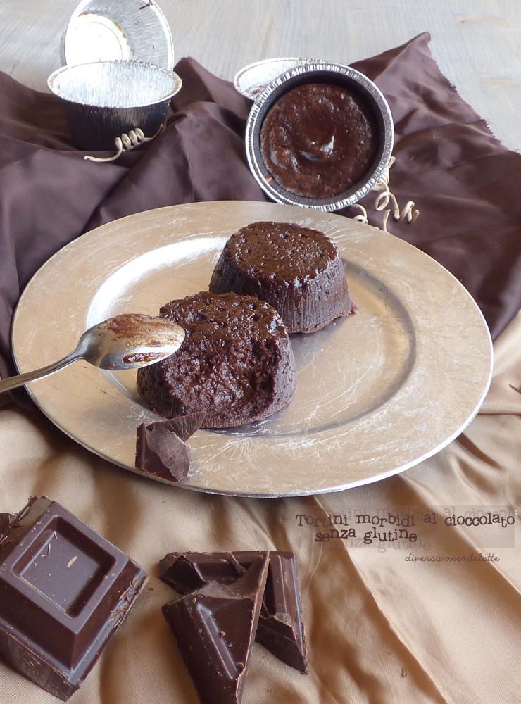 tortini morbidi al cioccolato-senza glutine e senza lattosio