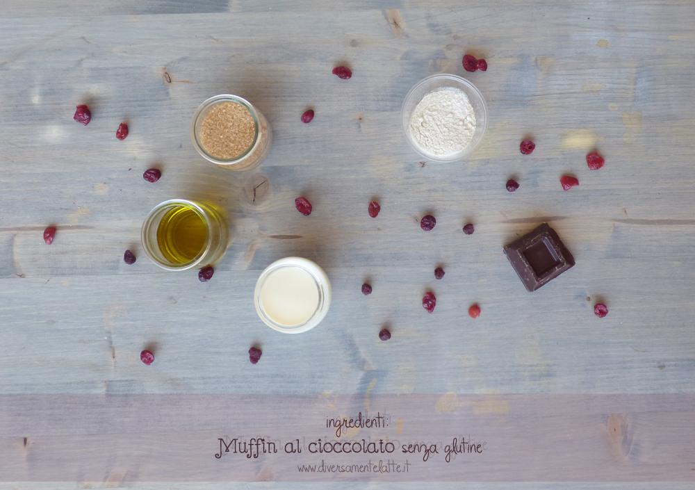 ingredienti muffin al cioccolato senza glutine