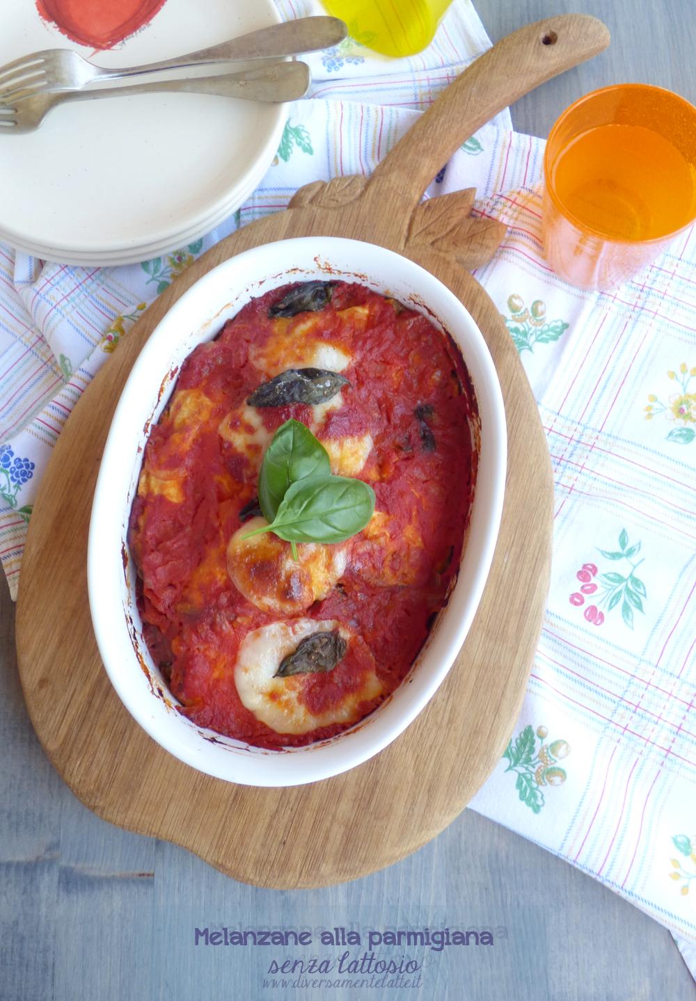 melanzane alla parmigiana senza lattosio