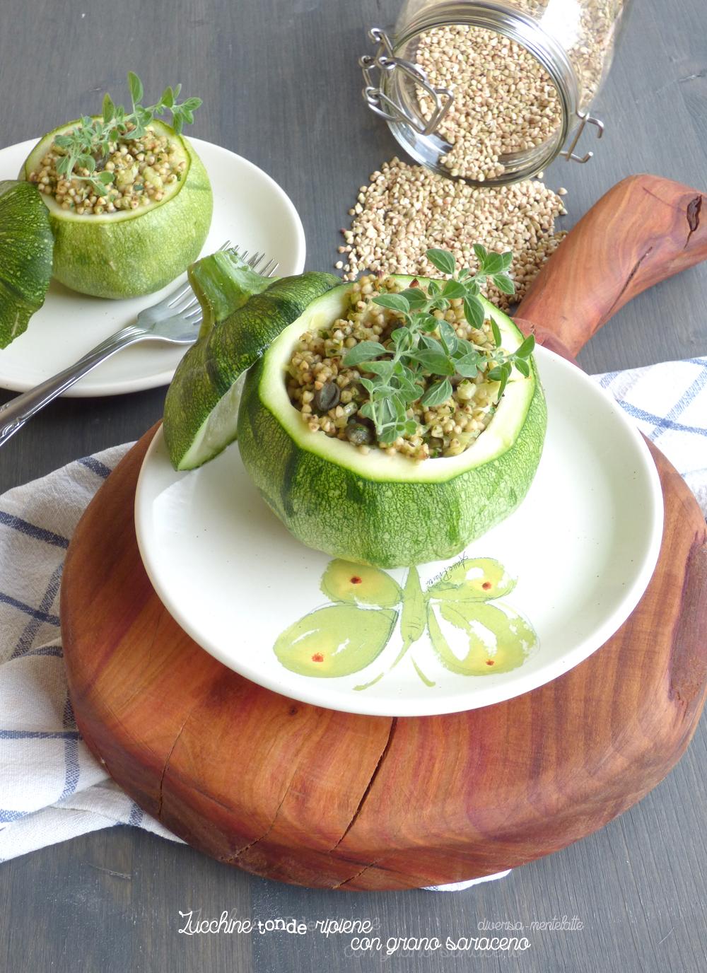 zucchine tonde ripiene con grano saraceno