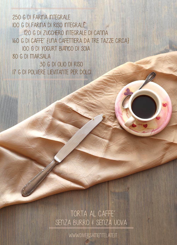 ingredienti torta al caffè