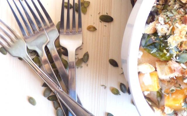 Cavolini di bruxelles e zucca al gratin senza latticini