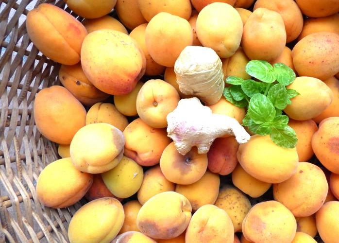 Confettura di albicocche, zenzero e menta