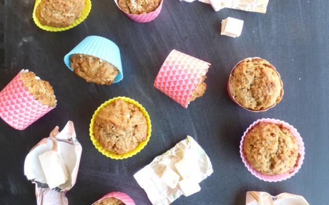 Muffin al torroncino senza lattosio e senza uova