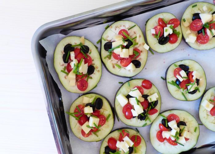 Pizzette di melanzane vegetariane