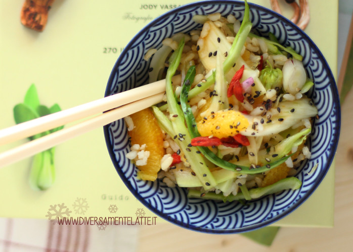 Insalata di riso integrale all'orientale