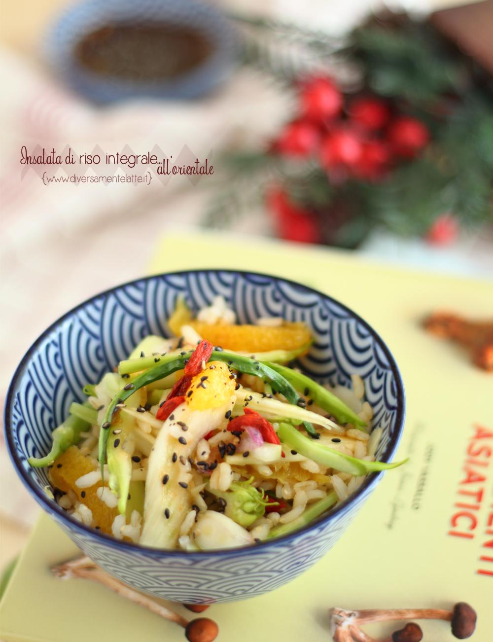 insalata di riso integrale alla maniera orientale