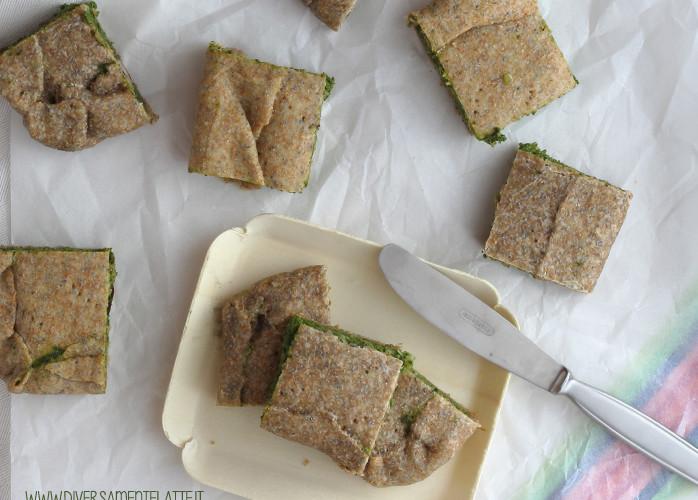 Torta salata rustica con spinaci e tofu