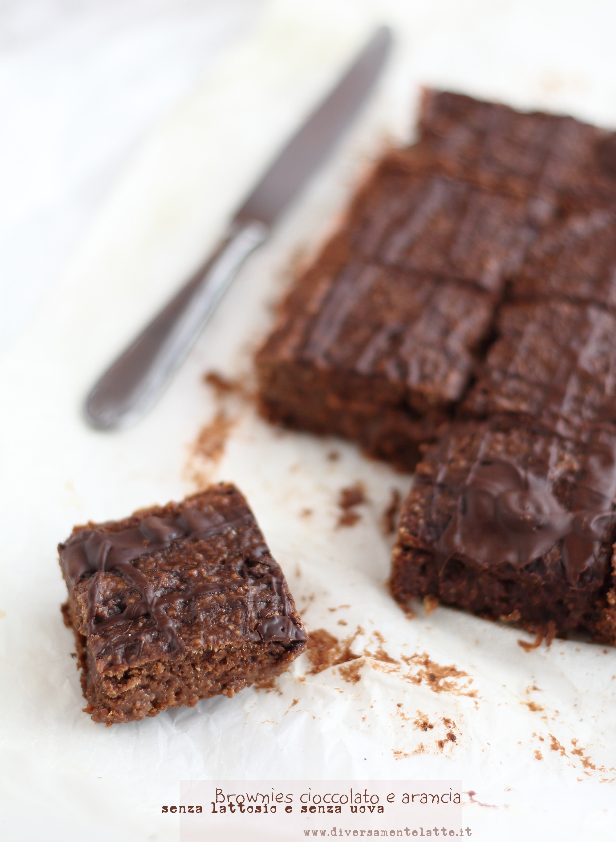 brownies vegan cioccolato arancia