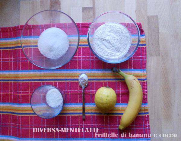 Frittelle di banana e cocco