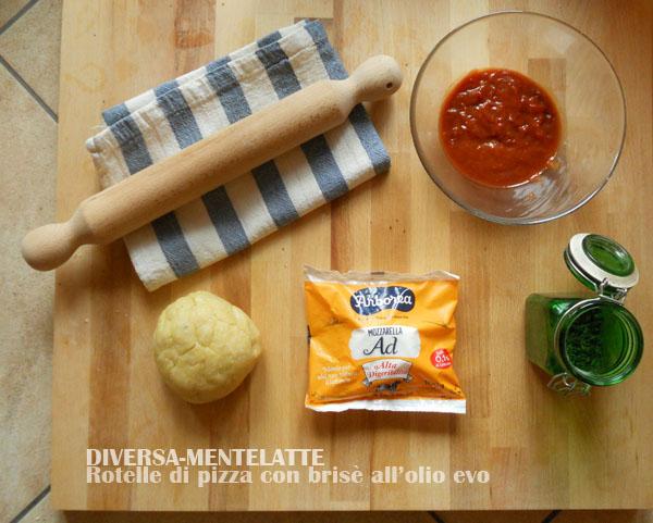 Ingredienti per le rotelle di pizza